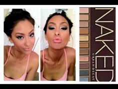 Naked Tutorial I think I would have to adjust a bit because of my pale skin but super pretty. Kiss Makeup, Love Makeup, Makeup Tips, Beauty Makeup, Makeup Looks, Hair Makeup, Hair Beauty, Makeup Tutorials, Naked Palette