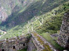 Road to get to Machu Picchu