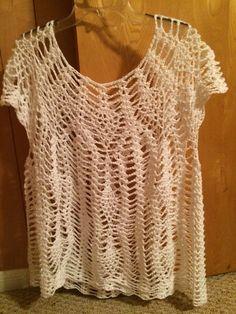 Tammy Hildebrand pattern- Capri Cover. Paid pattern. Patons Grace cotton yarn. > 6 skeins
