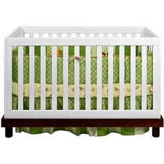 Pretty crib.  And from Wal-Mart.  Who knew?
