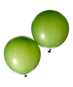 Look at this #zulilyfind! Green Jumbo Balloon - Set of 12 #zulilyfinds