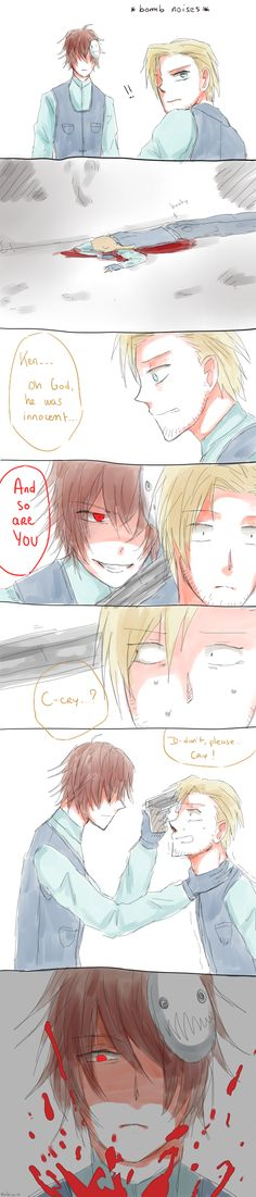 Cry and Pewdiepie - by Reikiwie.deviantart.com on @DeviantArt They make it seem so evil and not just a game!!!
