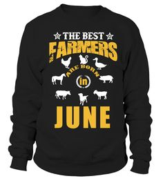 THE BEST FARMER-JUNE  #gift #idea #shirt #image #funny #job #new #best #top #hot #engineer