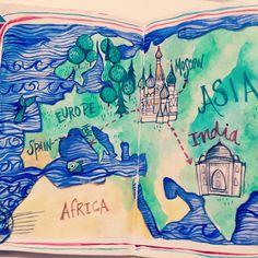the sketchbook project 2012 -Irene G. lenguas http://www.flickr.com/photos/dibusdeire/6462181411/in/pool-1316342@N21