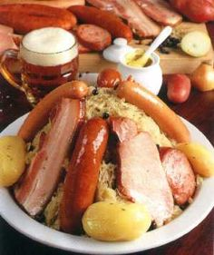 Food in Alsace-Lorraine, France,choucroute (no recipe)