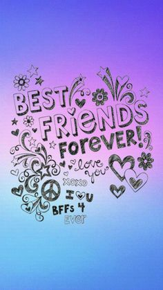 Besties Forever Galaxy Wallpaper androidwallpaper