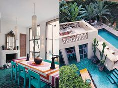 Morocco design is renowned for its eclectic design and bold use of colour. This is a prime example! So beautiful!