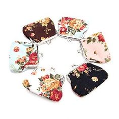 Amazon.com : Little Mouse ® Women Retro Roses Floral Fabric Clip Package Cosmetic Bag Mini Coin Hand Purse/dot Wallet Mini Handbag Pouch (Rose Anna) : Office Products