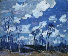 Tom Thomson (Canadian, 1877-1917), Nocturne: The Birches, 1916, oil on wood panel, 21.6 x 26.8 cm, Ottawa, National Gallery of Canada