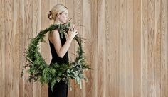 One major component in telling the Christmas story at home is to create a huge wreath – I always make everything fresh. I also like to make a stunning green installation above the fireplace that is both strikingly beautiful to the eye and perfumes the entire home with that delicious pine scent.