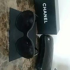 Chanel sunglasses Black chanel sunglasses great condition WILL TRADE ! CHANEL Accessories Glasses