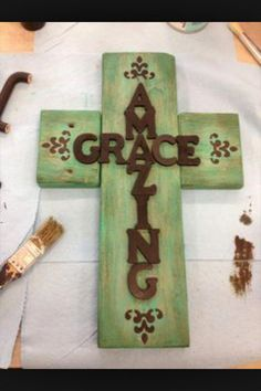 Amazing grace cross #Woodcrafts