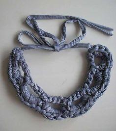 Collar de trapillo: Fotos de diseños - Modelo de collar de trapillo