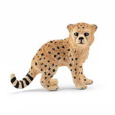De figuren van Schleich worden natuurgetrouw en altijd op schaal nagemaakt. Alle figuren worden met de hand beschilderd. Zo komen de figuren altijd overeen met de werkelijkheid.Afmetingen: 5 x 3,5 x 2 cm. - Schleich Baby Cheetah