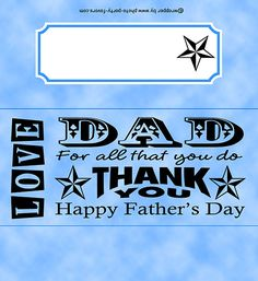 Father's Day Word Art Candy Bar Wrapper - Free Printable Chocolate Bar Wrapper