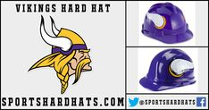 f10d47cf152 Minnesota Vikings Hard Hat  Vikings  NFL  HardHats  Safety  Construction   OSHA  ANSI