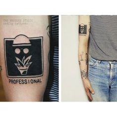 This creative reminder of Léon: The Professional: | 33 Magnificent Tattoos Inspired By Movies