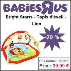#missbonreduction; 20% de réduction sur Bright Starts - Tapis d'éveil - Lion chez Babiesrus.http://www.miss-bon-reduction.fr//details-bon-reduction-Babiesrus-i855465-c1830838.html