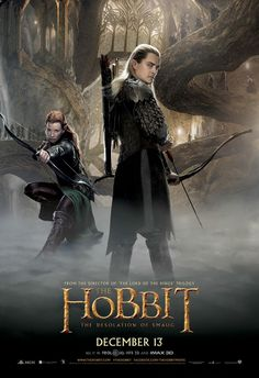 The Hobbit: The Desolation of Smaug posters for sale online. Buy The Hobbit: The Desolation of Smaug movie posters from Movie Poster Shop. We're your movie poster source for new releases and vintage movie posters. O Hobbit, The Hobbit Movies, Love Movie, I Movie, Movie Blog, Legolas And Tauriel, Gandalf, Aragorn, Bon Film