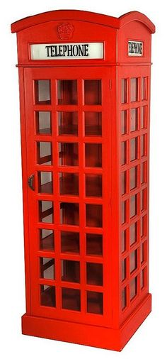 Telephone Box Cabinet Or Wardrobe - how freakin' cute is this?!? #british #london #uk #decor #furniture #design #booth