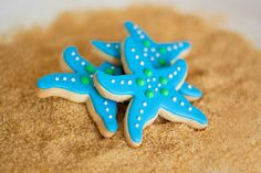 Starfish Beach Wedding Cookie Favors // Wedding Favors // Bridal Shower Favors // Star Fish Birthday Party Favors.