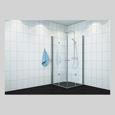 VikingBad dusjhj leddet H Klart glass,sølv 195 Divider, Bathtub, Bathroom, Glass, Furniture, Home Decor, Standing Bath, Washroom, Bathtubs