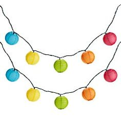 Rainbow Lantern String Lights