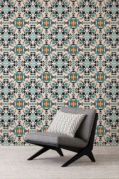 Moroccan Flowers Adhesive Wallpaper Removable Wallpaper