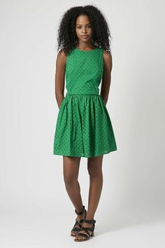 Broderie Pinafore Sundress - Dresses - Clothing - Topshop