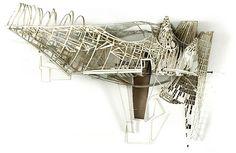 SARABEN STUDIO /// 2.5 dimensional laser cut paper architectural drawings by Ben Cowd + Sara Shafiei