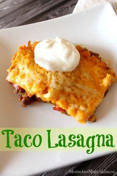 Taco Lasagna #Recipe #LMDConnector