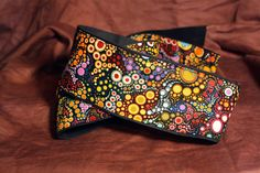 Vegan Mandolin Strap-Galactic pattern-Made to order a-style or f-style