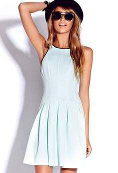 Striking Scuba Knit Dress | FOREVER21 Wishing for an endless summer #SunDress #Mint #Sleeveless #Capsule