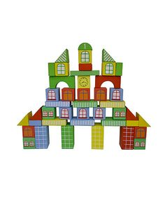Take a look at this Fantasy City Block Set by DIY KIDS on #zulily today!14