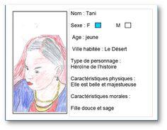 Carte d'identité réalisé à partir du livre Tani de Alex Godard par Léa. Pour voir la notice du livre, cliquer sur mon dessin