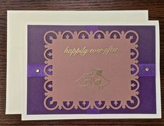 Happily ever after .  . #Wedding #greetingcard #etsy by OccasionalNoteCard.etsy.com