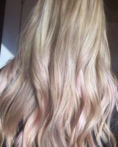 Subtle lavender  pink highlights!