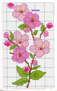Anaide Ponto Cruz: Beautiful cross stitch graphics for bath towels, leave your c… – Embroidery Cross Stitch Borders, Cross Stitch Rose, Cross Stitch Flowers, Modern Cross Stitch, Cross Stitch Designs, Cross Stitching, Cross Stitch Embroidery, Cross Stitch Patterns, Hand Embroidery Patterns