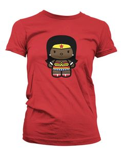 Black Wonder Woman T-Shirt, Ebony Wonder | Black Action Tees. I'm so in love with this t-shirt...I just sang that as I typed it.