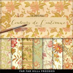 New Freebies Papers Kit - Couleurs de L'automne:Far Far Hill - Free database of digital illustrations and papers