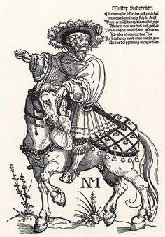 Artist: Schoen, Erhard, Title: Musterschreiber, Date: ca. 1535