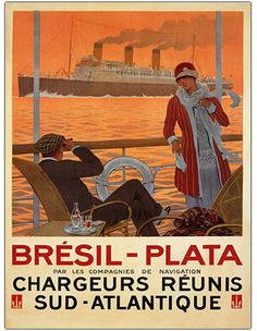 1920's or 30's French travel poster