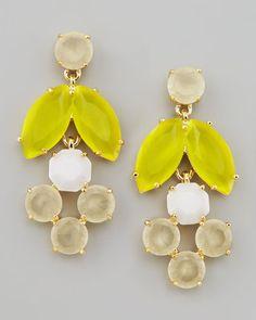 Kate Spade Mini Chandelier Earrings, Yellow #yellow #earrings