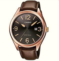 Montre Casio Vintage - Bracelet cuir - Boitier cuivré - Montre Femme - Montre  Homme - Effet rétro - 70 s 4d2753b7e976