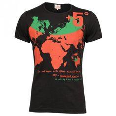 Vivienne Westwood Man Gold Label Lees T-Shirt - Black/Red | Sold At GarmentQuarter