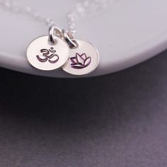 Om Lotus Charm Necklace