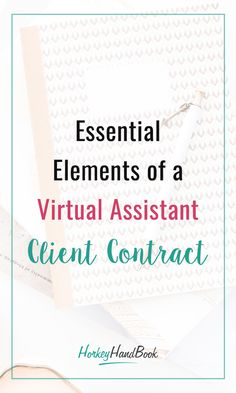The reason why you need to use a VA contract is simple – setting clear expectations and confirming that both parties understand and agree with these expectations. That being said, here are the essential elements included in our VA contract template. Earn Money From Home, How To Make Money, Social Media Posting Schedule, Virtual Assistant Services, Current Job, Business Checks, Essential Elements, Online Work, Making Ideas