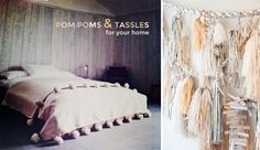 Pom Pom's and Tassle DIY Projects for Your Home