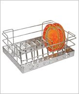 #BTL Thali Basket. #USP of this product is, it is manufactured from SINGLE PIECE of high grade stainless steel 304 SHEET without any welding or joints. #Simplifyingspaces. www.agraeta.com
