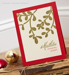 Mistletoe Kisses Card by Ashley Cannon Newell for Papertrey Ink (September 2012)